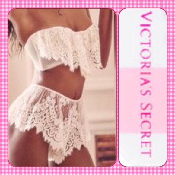 292a648a8da NWT! Victorias Secret Ivory Lace Bra Panty 34DD M. Boutique. Victoria s  Secret